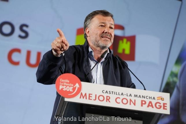 El candidato a la Alcaldía de Cuenca, Darío Dolz, fue el que pidió a Page que cuente con Guijarro de vicepresidente. Yolanda Lancha