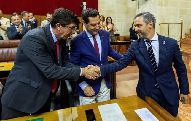 PP y Cs firman los Presupuestos andaluces con el voto de Vox
