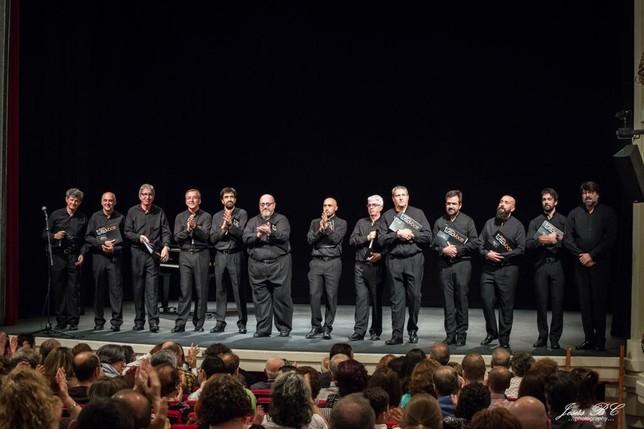 El coro, durante uno de sus conciertos