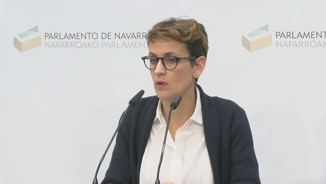 """Chivite, a Rivera: """"Los pactos se decidirán en Navarra"""""""