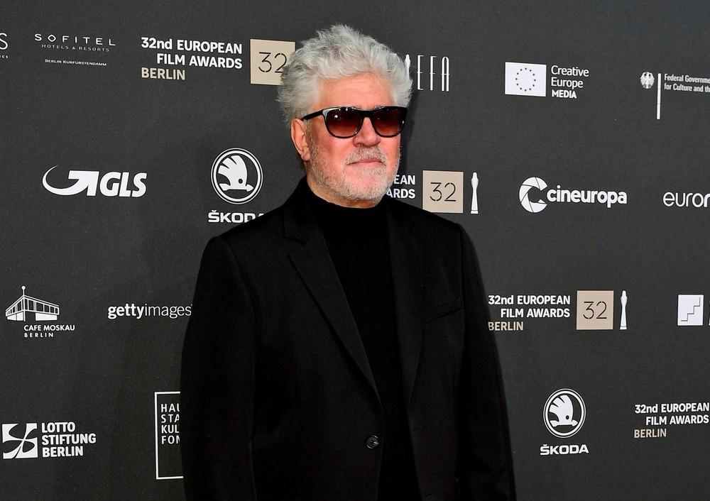 El cineasta castellanomanchego, en los Premios del Cine Europeos en Berlín.