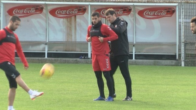 Mérida se prepara durante un entrenamiento anterior