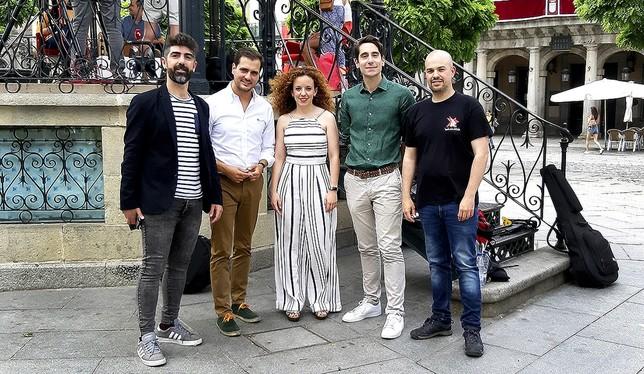 San Juan (izq) (Podemos), Pérez (PP), Otero (Cs), Merino (PSOE) y Galindo (IU)