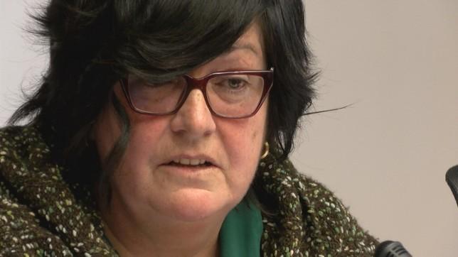 Pilar Irigoien, directora gerente de Sodena, en la comparecencia parlamentaria de este miércoles