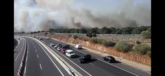 Cerrada la ronda suroeste de Toledo por las llamas