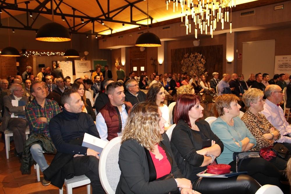 Asistentes a la reunión anual de CEOE-Cepyme Tarancón, en el restaurante Essentia.
