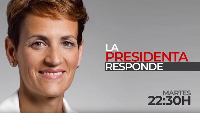 María Chivite responde este martes en Navarra Televisión