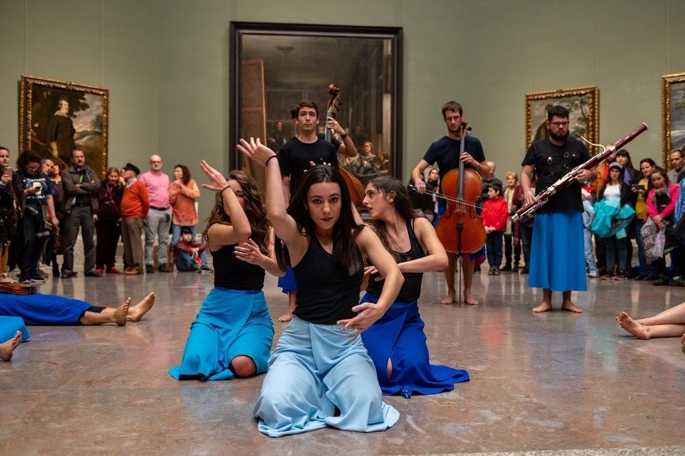 Un momento de la actuación en el Prado.