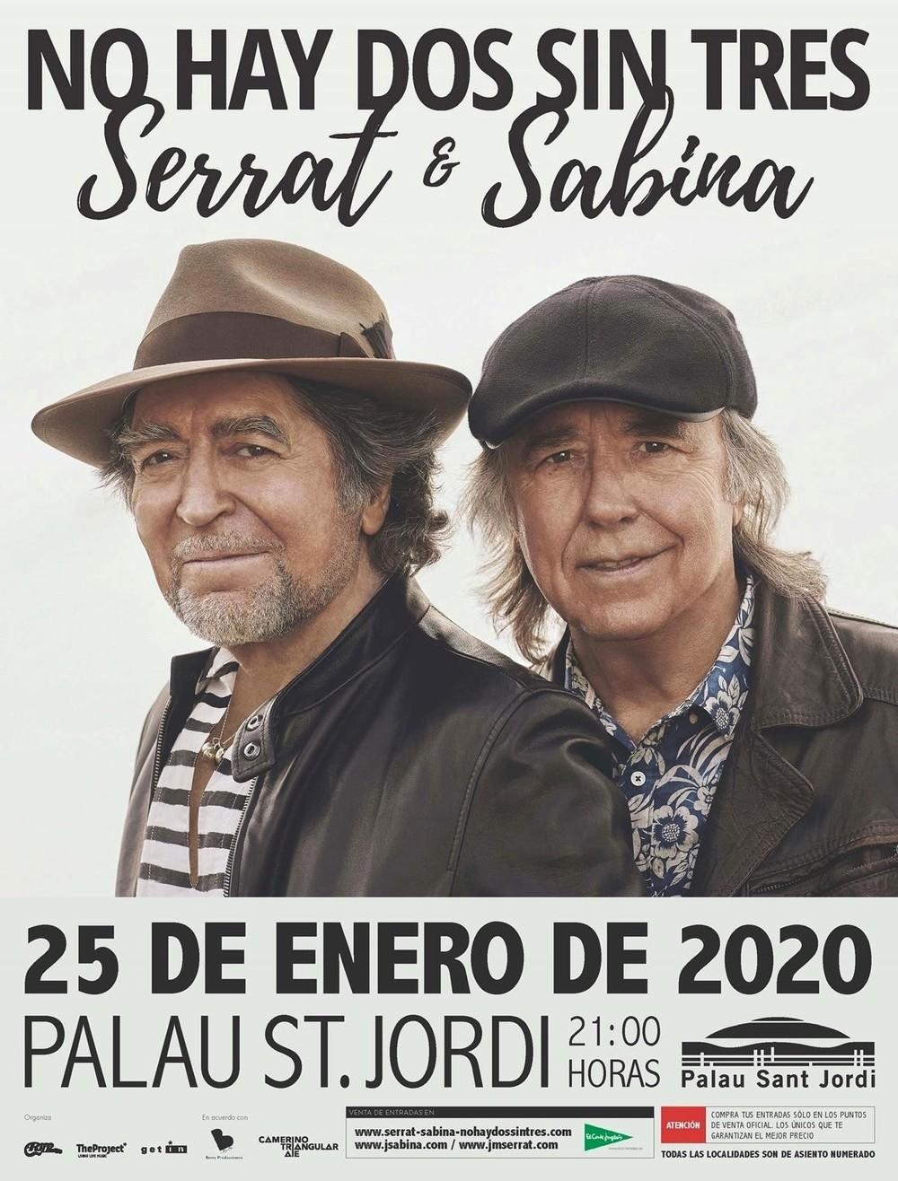 Serrat y Sabina anuncian concierto en Barcelona el 25 de enero