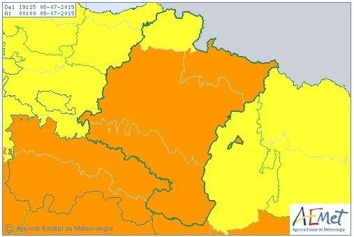Toda Navarra, en aviso amarillo por lluvias y tormentas