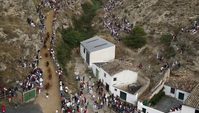 Las mejores imágenes del segundo encierro del Pilón
