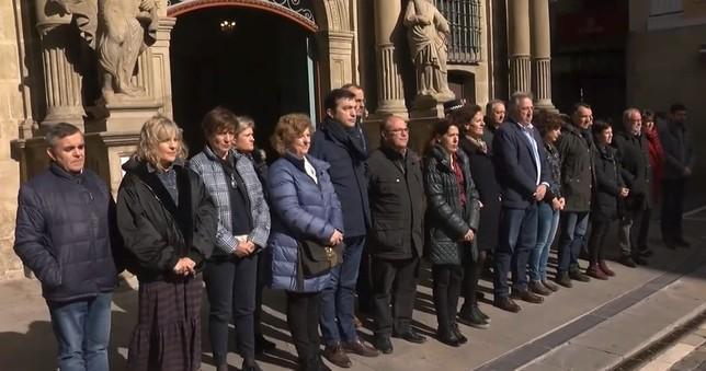 Minuto de silencio en Pamplona por el 11-M