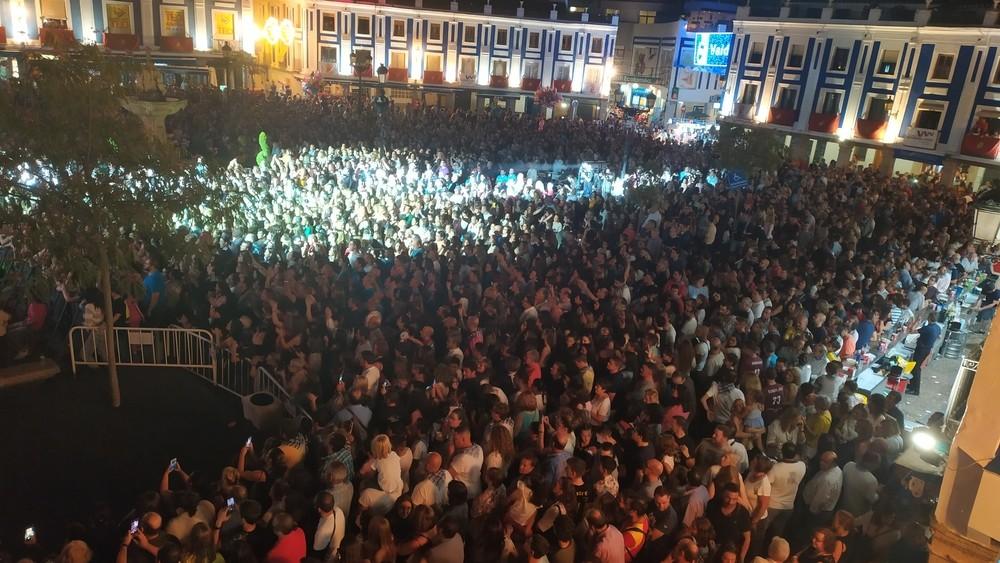 Concierto de Blas Cantó el pasado año en las Fiestas del Vino.