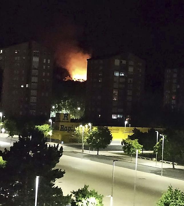El fuego del monte de Sagrados Corazones pudo ser provocado