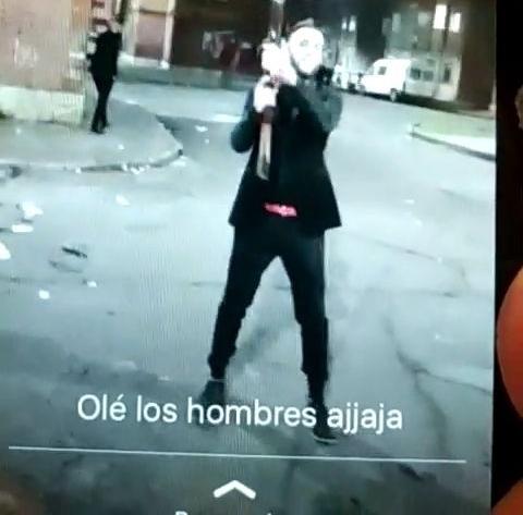 Captura del video de Las Viudas. D.V.