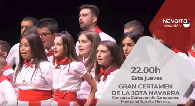 Navarra TV te ofrece el gran certamen jotero de Tafalla
