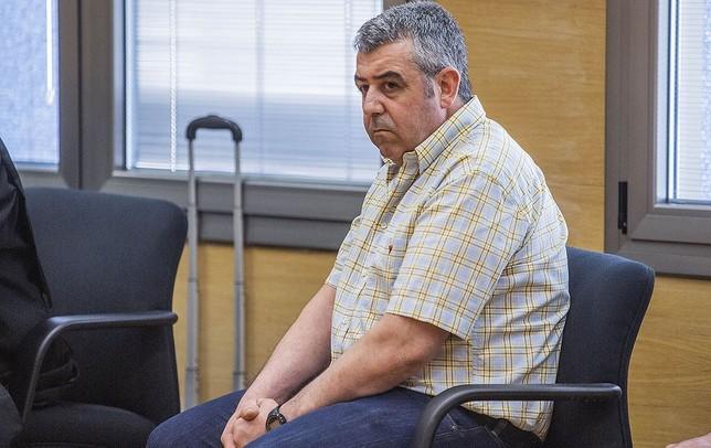 El procesado, en el juicio que comenzó ayer en la Audiencia Provincial Pablo Lorente