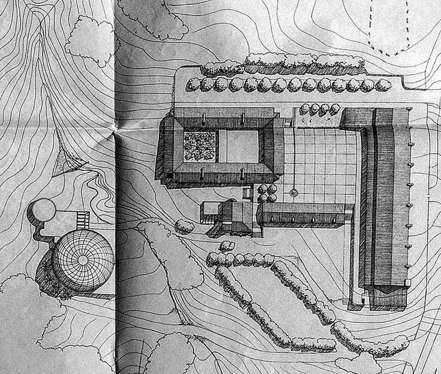 Plano del proyecto que presentaron los arquitectos en 1992.