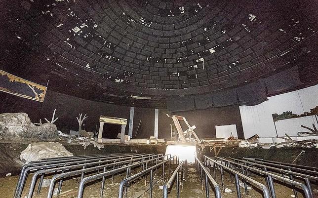 Sala del panorámico, bajo la gran cúpula que se ve desde la carretera.