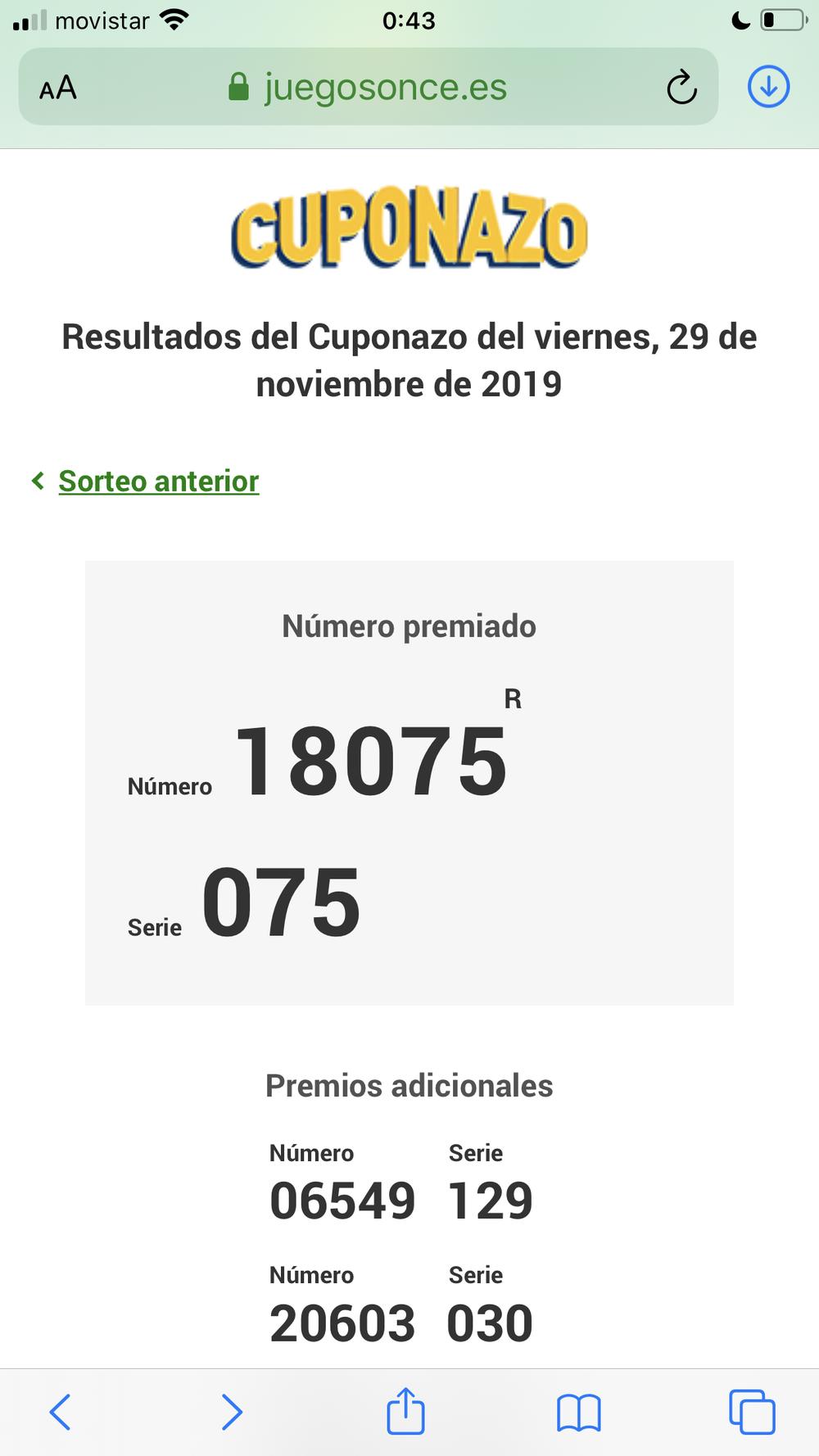 El Cuponazo de la ONCE deja 11,2 millones en Socuéllamos
