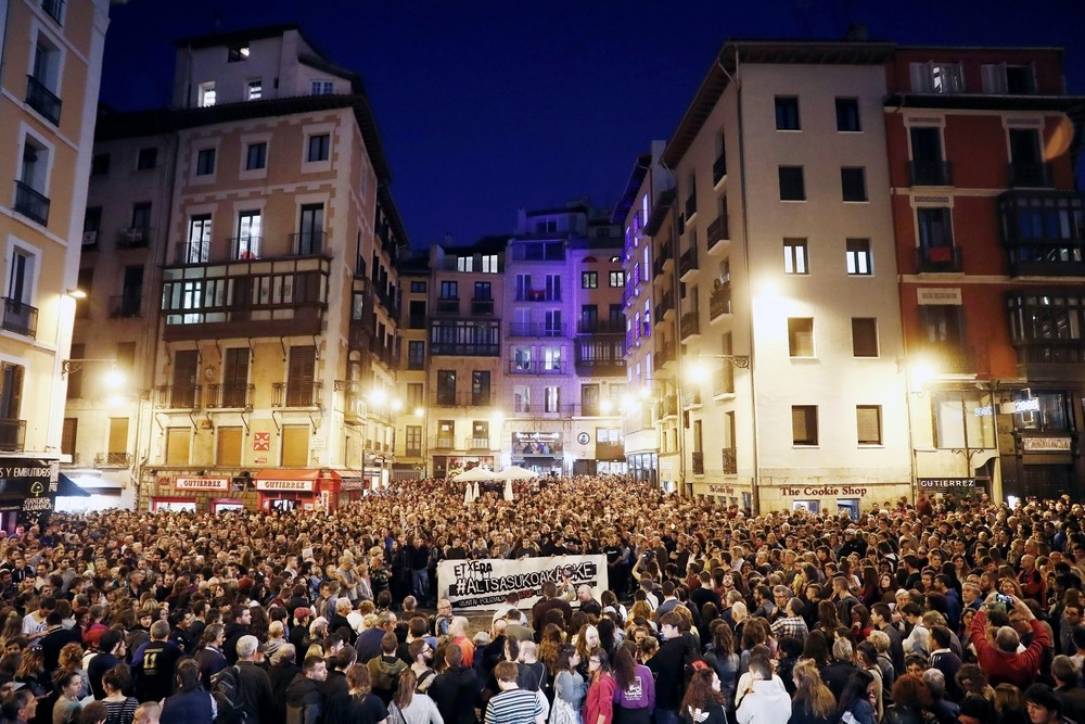 'Esto no es justicia': Pamplona, contra la sentencia del TS
