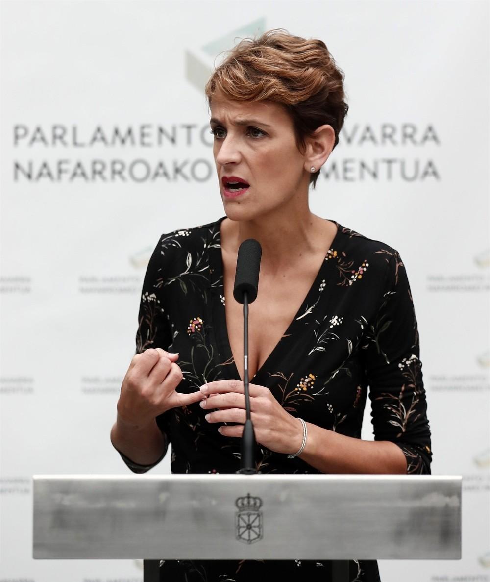 Chivite pide a Na+ que entienda la pluralidad de Navarra