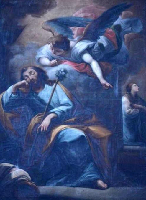 'El sueño de San José', anónimo, de finales del siglo XVIII, del Santuario de La Fuencisla  D.S.