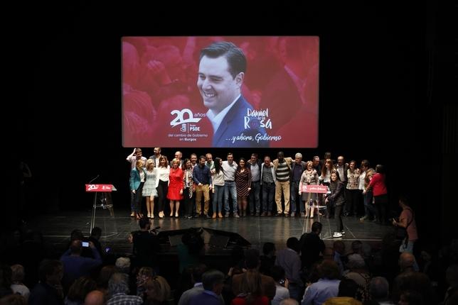 Presentación de la candidatura del PSOE al Ayuntamiento  Alberto Rodrigo