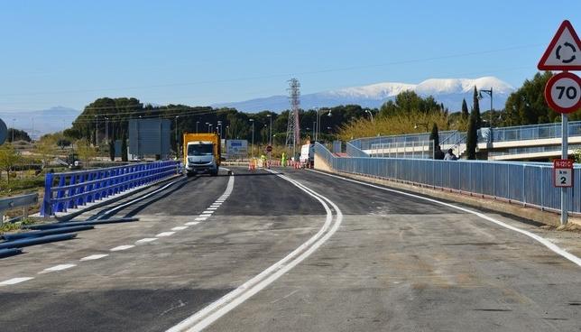 Abierto al tráfico el puente de la 121-C de acceso a Tudela