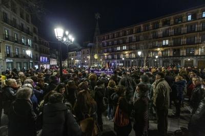 Más de 300 personas claman contra el «discurso neofascista» de Vox  en Zocodover. David Pérez