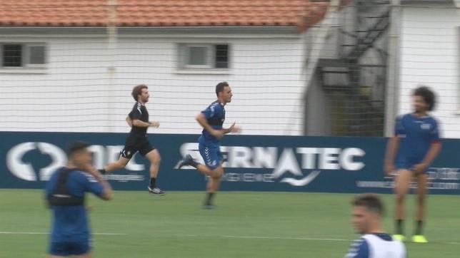 Unai García ya esprinta en Tajonar