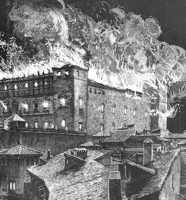 El Alcázar ha ardido en varias ocasiones.