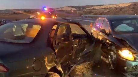 Un herido tras chocar contra otro coche en Peralta