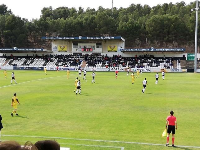 Tudelano e Izarra empatan a un gol en un derbi igualado