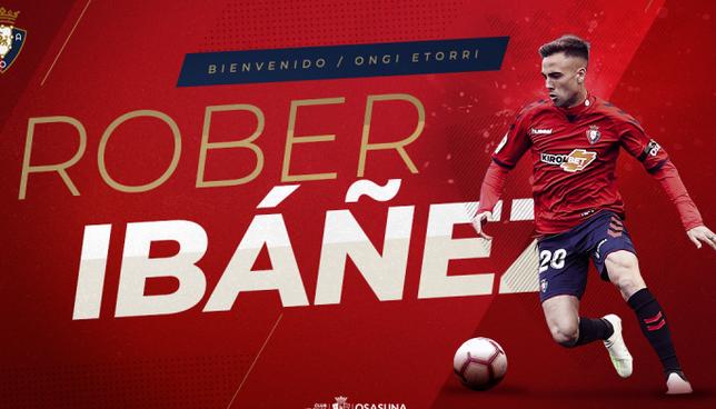 Rober Ibáñez vuelve a Osasuna, pero esta vez para quedarse