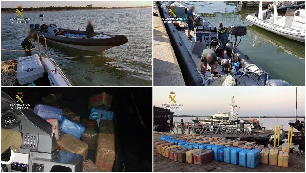 La Guardia Civil incauta 11.000 kilos de hachís en 5 días