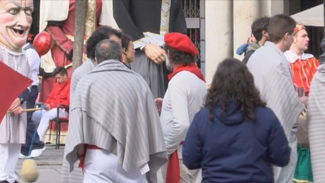 Sanfermines en Segovia por el rodaje de una película