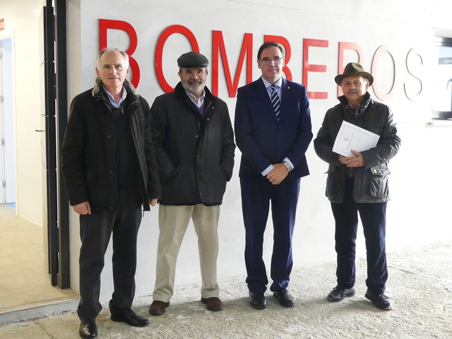Diputación recepciona las obras del nuevo parque de bomberos