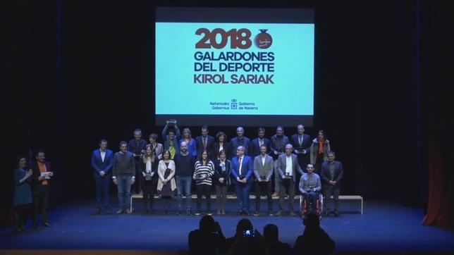 Asurmendi y Munárriz, mejores deportistas individuales, no pudieron asistir por compromisos profesionales Gobierno de Navarra