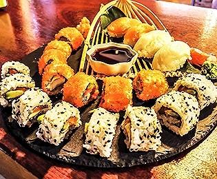Sushi variado.