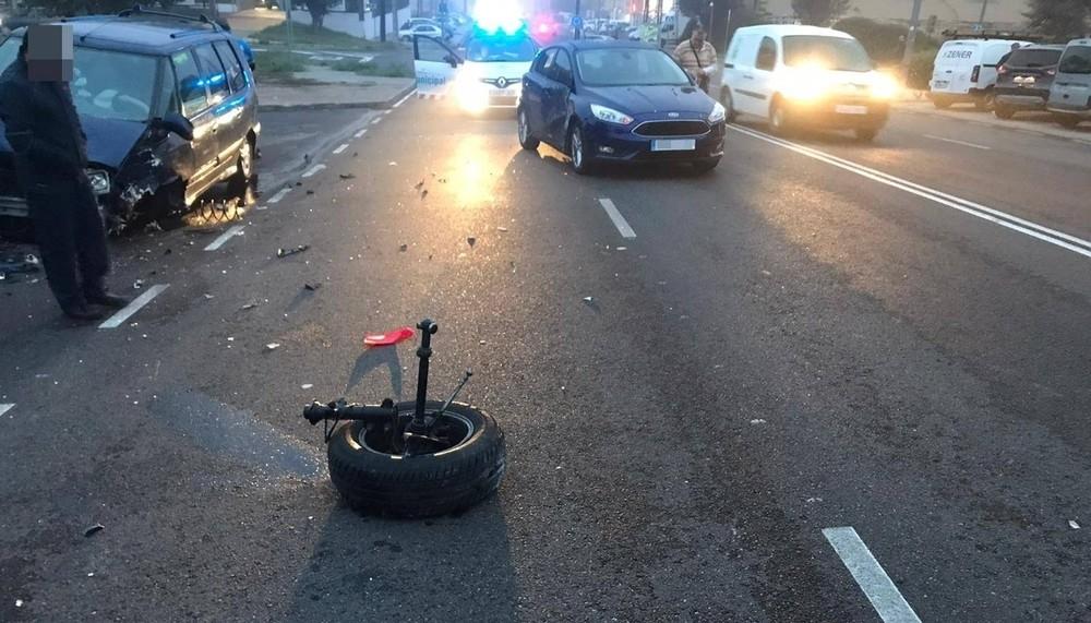 Un herido en una colisión en el polígono de San Cristóbal