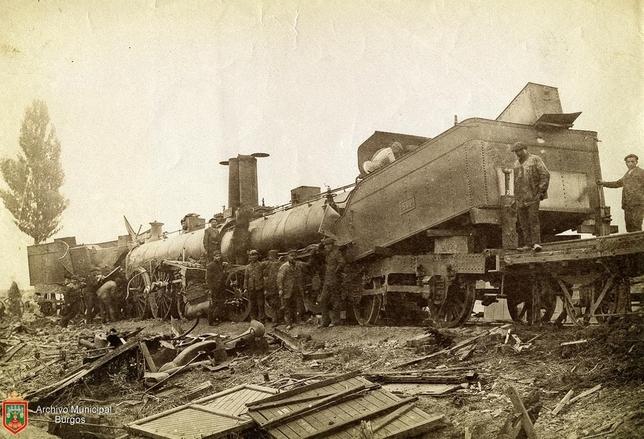 Septiembre 1891 - Dos trenes chocan en Quintanilleja