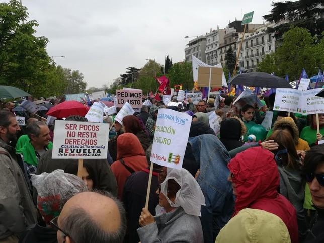 Imagen de un grupo de manifestantes segovianos Europa Press