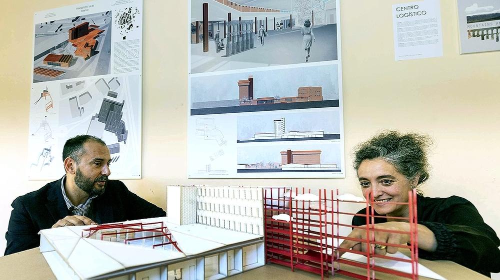Los arquitectos Óscar López y Sara Hernández