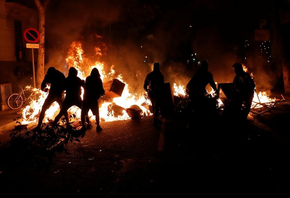 Noche de violencia en barcelona