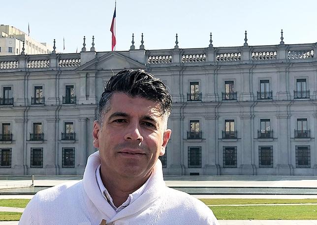 Vicente Marañón, en Chile.