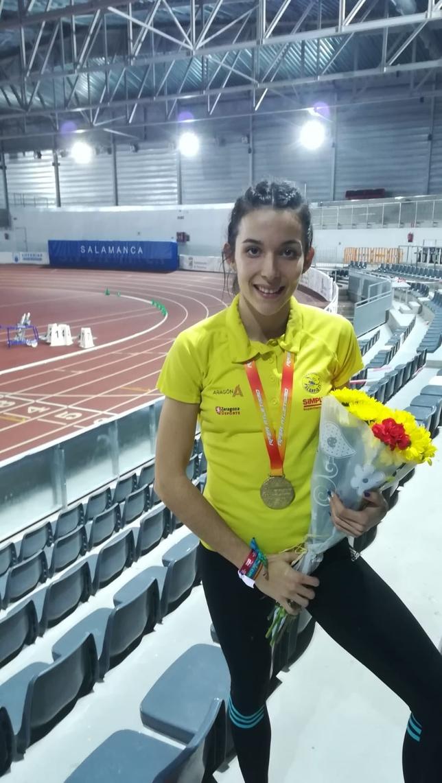 Marina Lobato, campeona de España sub 23 de triple salto LT
