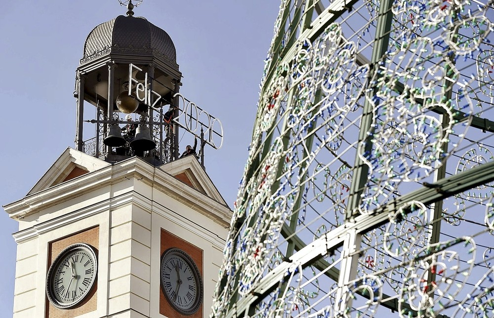 Antes de comer las uvas, se proyectarán imágenes sobre la fachada de la Real Casa de Correos.