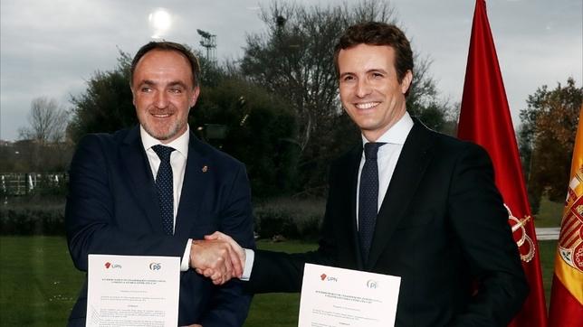 UPN y PP firman su alianza electoral en Pamplona EFE