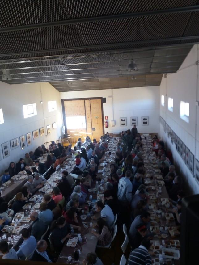 Más de 200 personas, en la fiesta de la matanza de Husillos